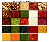 Autumn Leaves~ Charm Pack 42, 5'' Cotton Squares -by Benartex