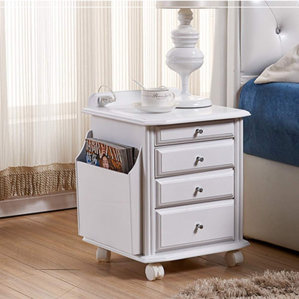 Very Economical Bedroom Nightstands XF Nightstands Bedside Table - Paulownia Wood Simple Modern with Three  Drawers Bedroom Bedside Storage Locker Living Room Multi-Functional  economical and ...