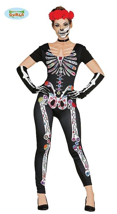 Guirca 84436 - Mexican Skeleton Adulta Talla M-L 42-44 Spandex: Amazon.es: Juguetes y juegos