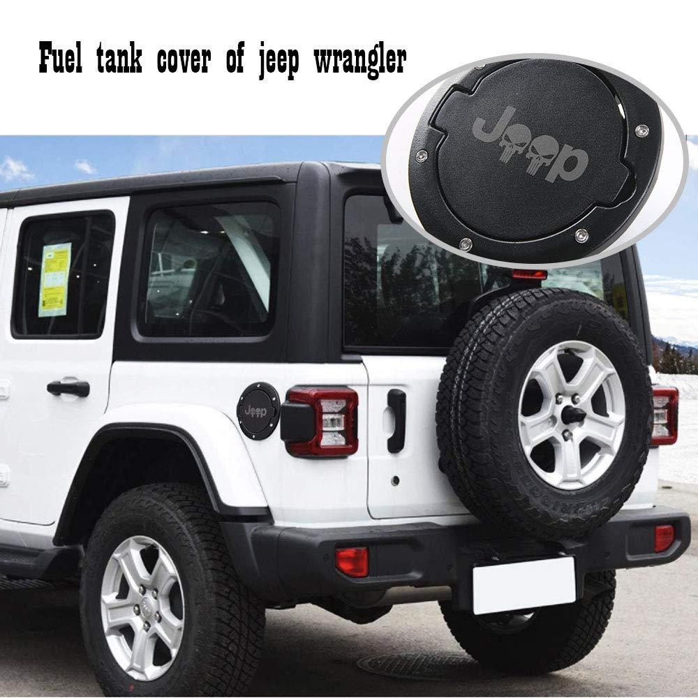 JeCar Gas Tank Cap Cover Fuel Filler Cover Door 4-Door 2-Door for Jeep Wrangler JK /& Unlimited 2007-2017 Sport Rubicon Sahara US Flag