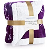 RHF Sherpa Blanket w/Words of Warm Hug, Family, Friendship, Positive Energy Healing Thoughts, Super Soft, Birthday Gifts for