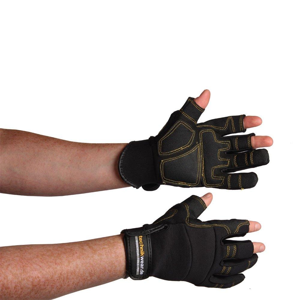 Men's Gloves Mechanicals CARPENTER Gloves - Perfect Fit - Black, 11 elysee 0874