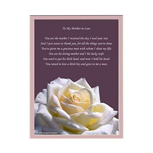 Mother In Law Gift With Thank You For My Husband Poem Rose Photo