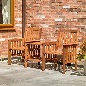 Kingfisher FSLOVE Hardwood Love Seat – Wood