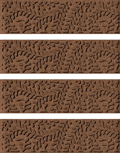 Bungalow Flooring Waterhog Indoor/Outdoor Stair Treads, Set of 4, 8-1/2