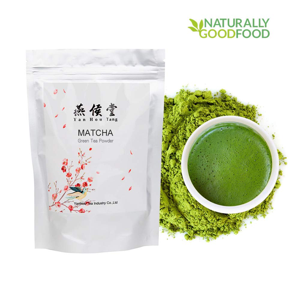 Yan Hou Tang Matcha Green Tea Powder Organic Beverage Class - 100 Gram USDA BIO Certified Japanese Jade Leaf for Food Drink Smoothies Coffee Ice Cream Baking Antioxidants Energy