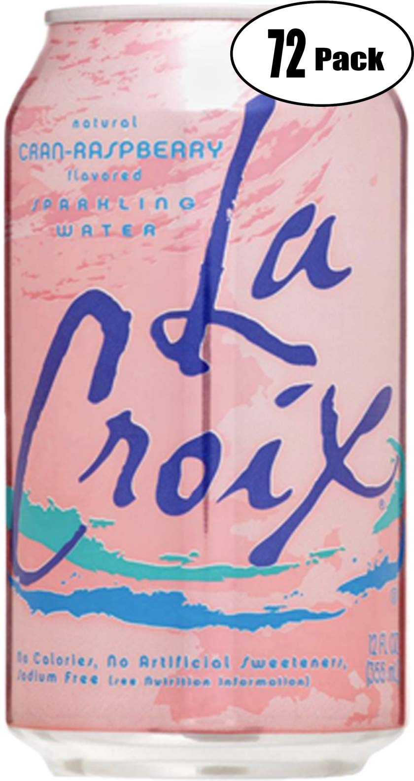 La Croix Crans-Raspberry Naturally Essenced Flavored Sparkling Water, 12 oz Can (Pack of 72, Total of 864 Oz) by La Croix
