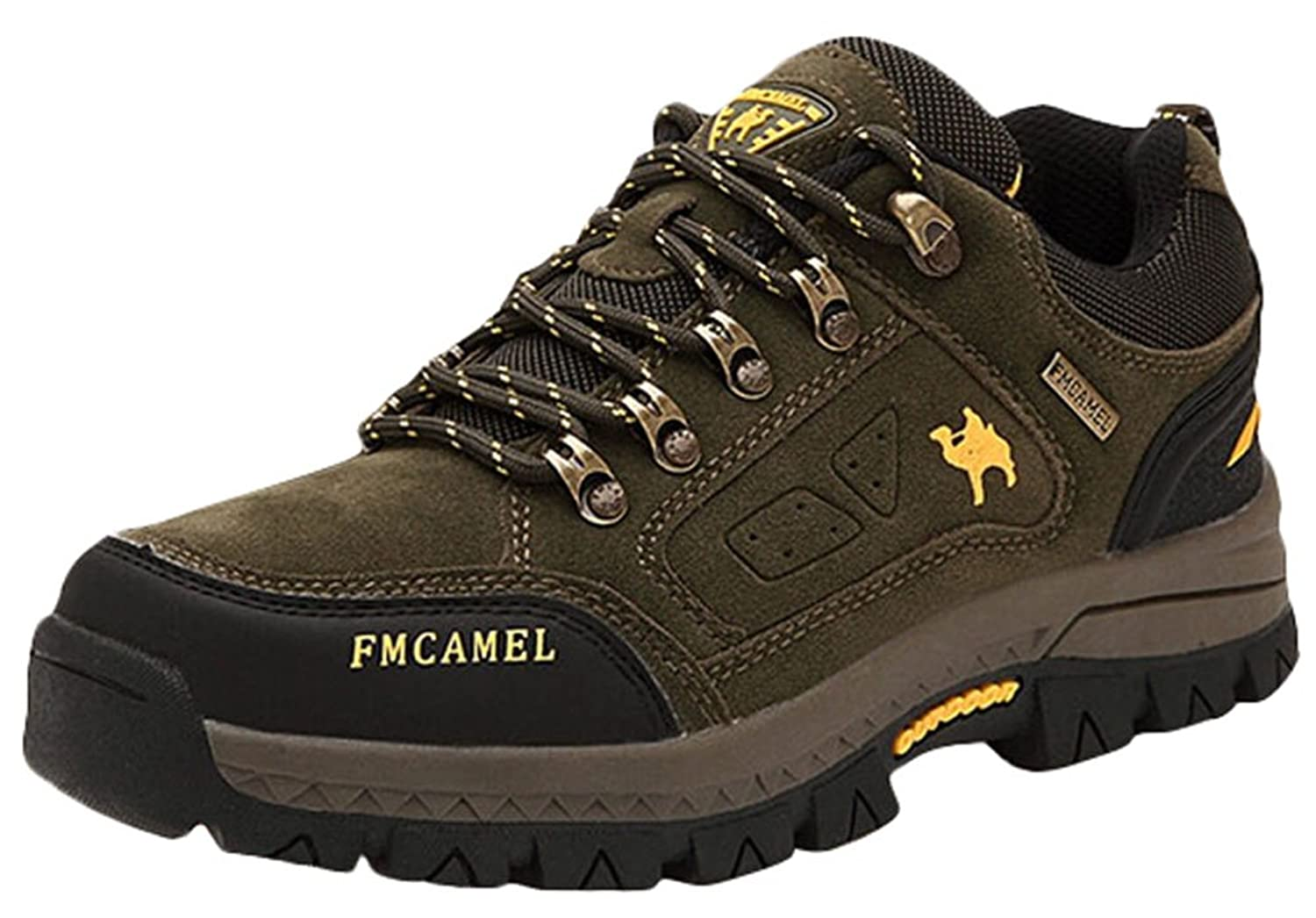 Ace Men's Waterproof High-top Mountain Shoes Anti-skid Hiking Boots Plus Size