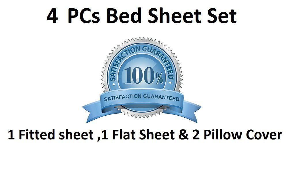 """400 Thread Counts 100/% Egyptian Cotton Fitted Sheet WHITE  9/"""" Depth5 Sizes"""