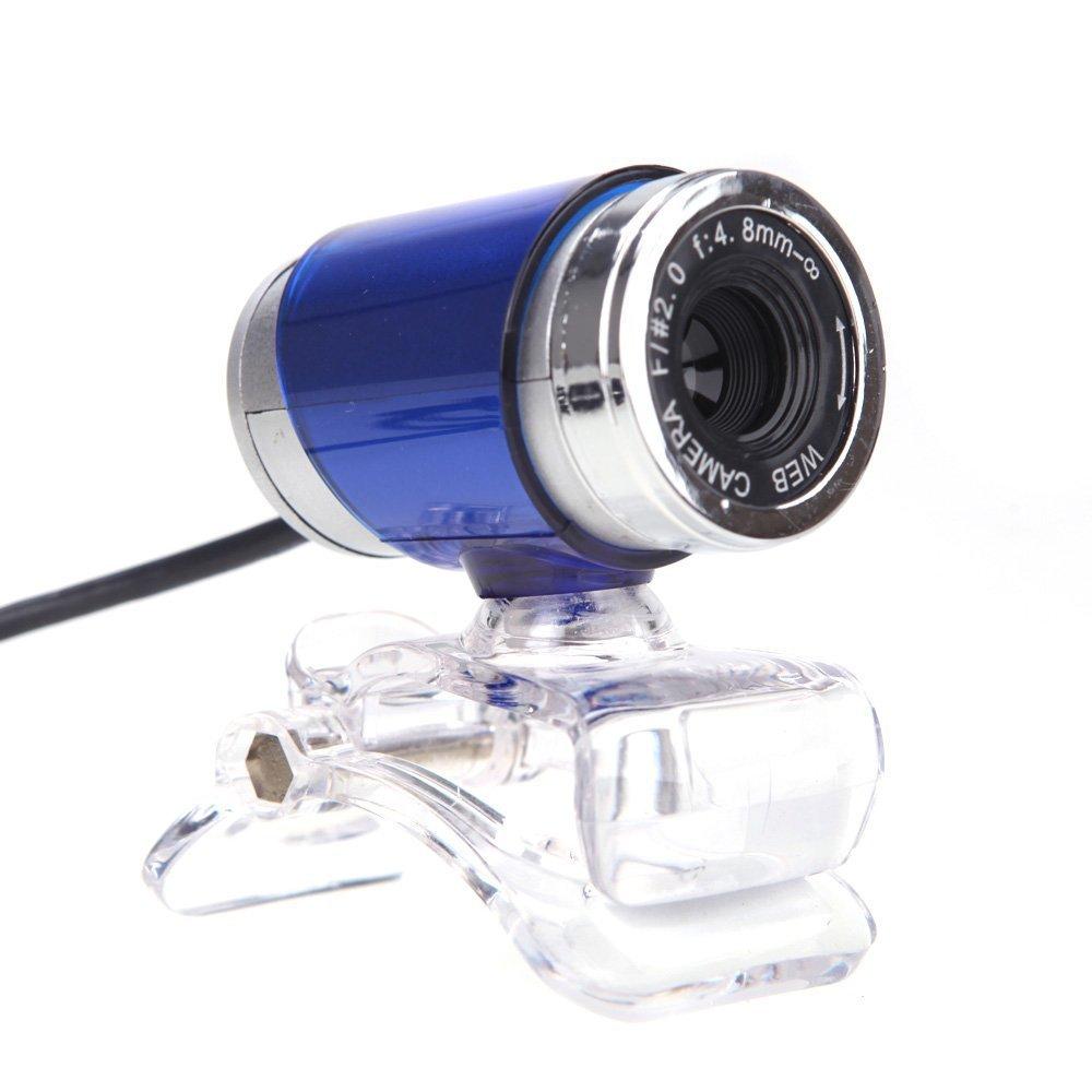 TOOGOO(R) USB 2.0 12 Megapixel HD Kamera Webcam mit Mikrofon Clip-on 360 Grad fuer Desktop Computer PC Laptop Skype Blau TOOGOO (R) 054774A1