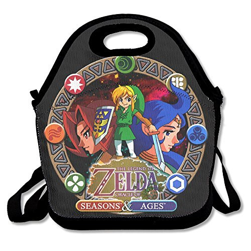 Fox Customzied The Legend Of Zelda Multifunction Lunch Tote Bag With Adjustable (Mario Bros Pumpkin)