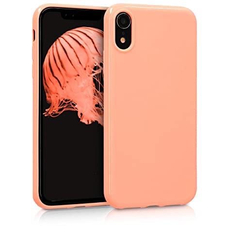 coque iphone xr silicone jaune apple