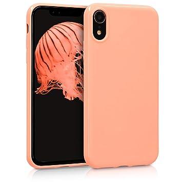 kwmobile Funda para Apple iPhone XR - Carcasa para móvil en TPU Silicona - Protector Trasero en Coral Mate