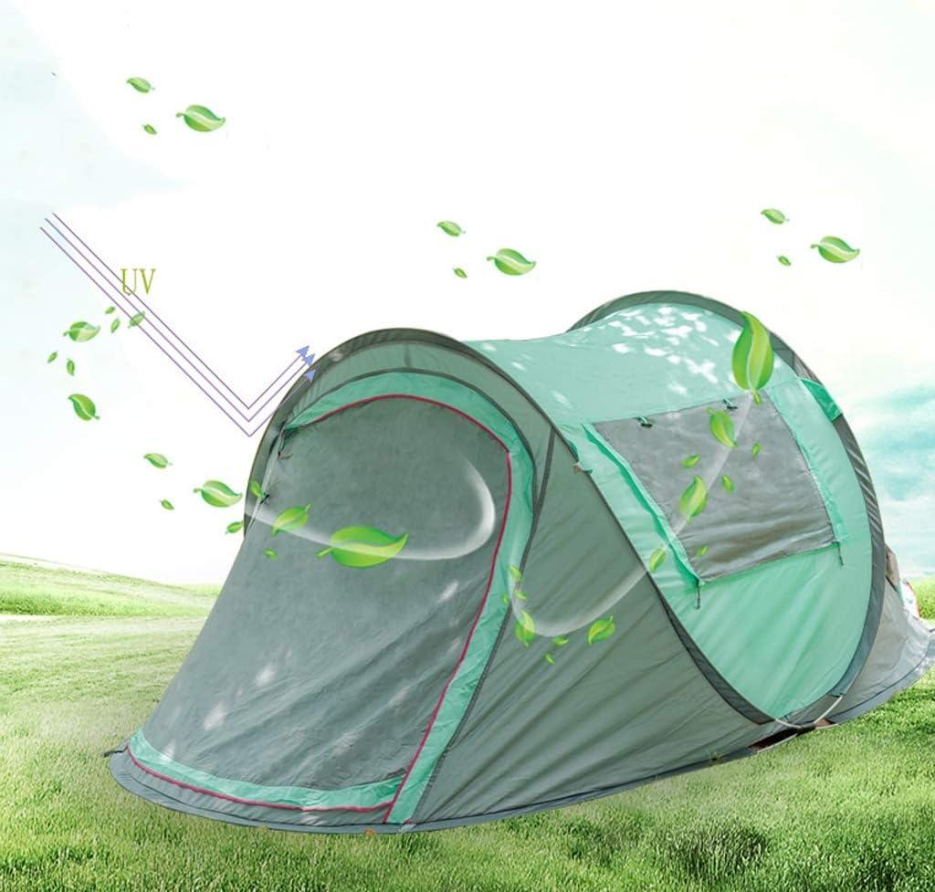 Tienda de Campaña 2 Personas, Impermeable Protección Solar Resistente Instantánea Automático Pop Up Tienda, para Deportes al Aire Playa Senderismo Viajes, con Bolso de Mano Blue