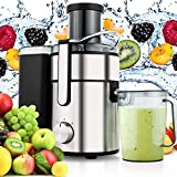 Cheap Kemanenr Juicer Machine,Juice Extractor 80MM Wide Mouth Masticating Juicer for Fruit and Vegetables,Whole Powerful 800 Watt with Juice Jug,2 Speed Setting Stainless Steel