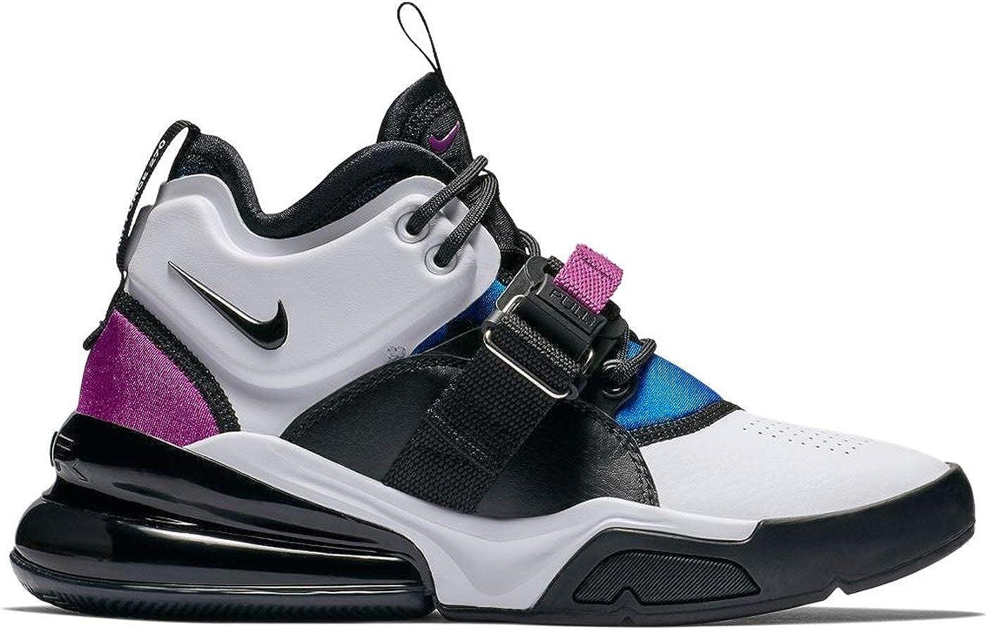 Marina Tomar un baño Calamidad  Amazon.com | Nike Kids Air Force 270 Shoes (gs) (White/Black-Lyon Blue,  Size 5.5 M US Big Kid) | Basketball