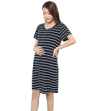 c5581efd35876 Brezeh Pregnant Dress,Womens Summer Short Sleeve Maternity Dress Ladies  Fashion Striped Nursing Breastfeeding Dress