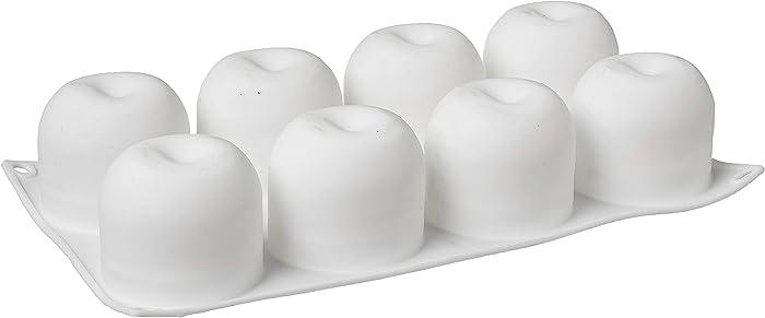 FRISGO Shape Decorating Tools Bakeware French Dessert Cake Baking Cupcake Silicone Mousse Mold (APPLE), White