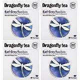 (4 PACK) - Dragonfly Tea - Earl Grey Rooibos Tea | 40 Bag | 4 PACK BUNDLE