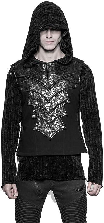 Camiseta de manga corta para mujer estilo g/ótico color negro Punk Rave Gothic