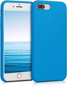 kwmobile TPU Silicone Case Compatible with Apple iPhone 7 Plus / 8 Plus - Soft Flexible Rubber Protective Cover - Blue Temptation