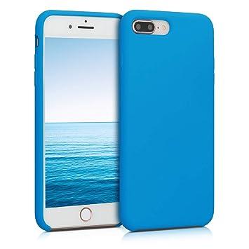 kwmobile Funda para Apple iPhone 7 Plus / 8 Plus - Carcasa de TPU para teléfono móvil - Cover Trasero en Azul Cielo