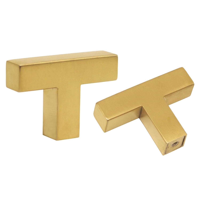 lat/ón cepillado Tiradores para cajones de cocina Probrico Hole Center: 160mm color dorado acero inoxidable 10 Pack acero inoxidable