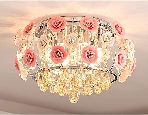Healer 19.7 inch Crystal Chandelier Ceiling Light Semi Flush Mount Fixture
