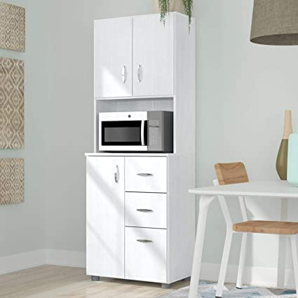 Amazon Com 66 Kitchen Pantry Contemporary Tall Microwave