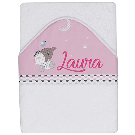 Capa de Baño Personalizada - Modelo Elefante - Color Rosa