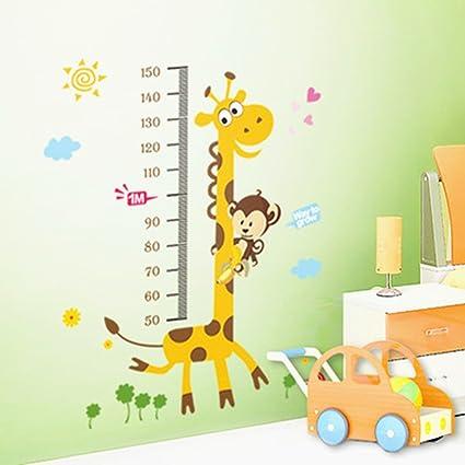 Amazon Kids Height Growth Chart Giraffe Height Chart Decal
