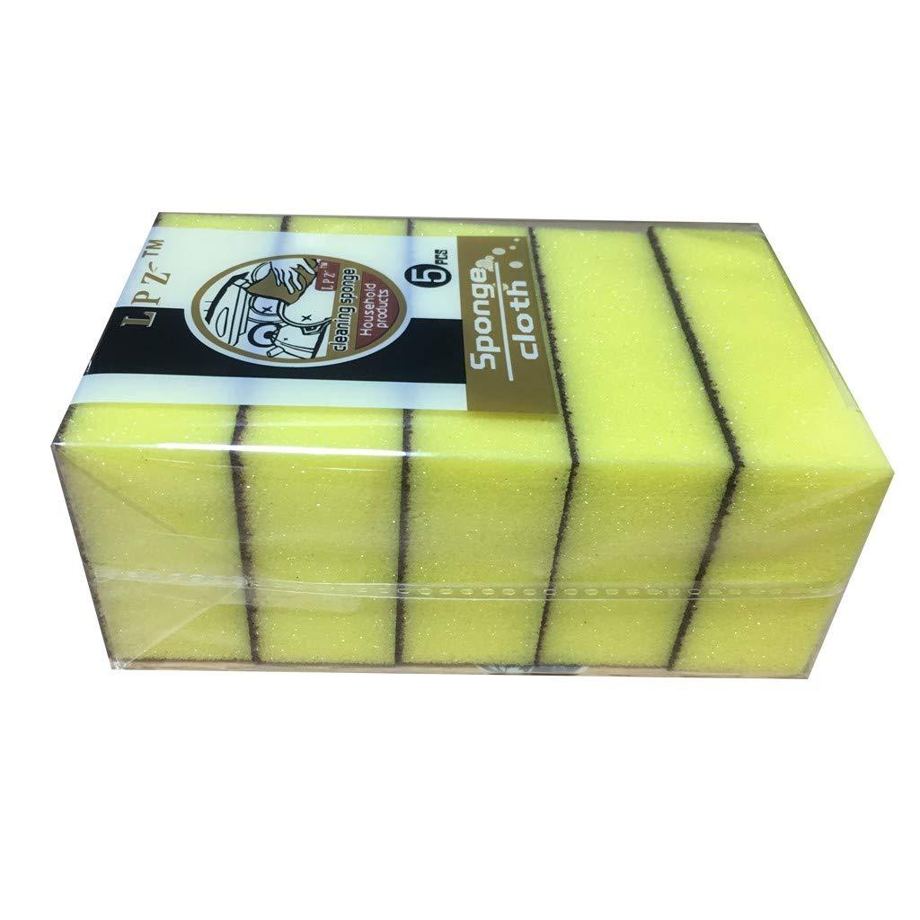 GXOK 5Pcs Sponge Brush Kitchen Nano Emery Magic Clean for Removing Rub Pot Rust Focal Stains Cleaning Sponge Brush