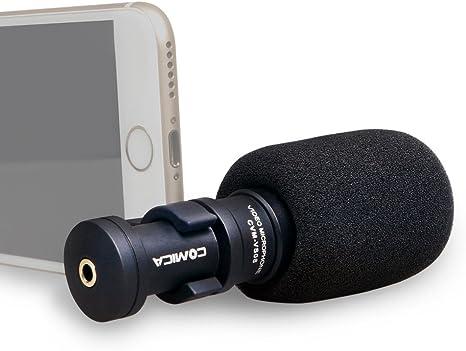 Comica cvm-vs08 Vídeo micrófono – profesional Mini Cardioid condensador direccional escopeta teléfono portátil Mic para Smartphone/iPhone/iPad/Samsung/Huawei etc con viento Muff y parabrisas: Amazon.es: Electrónica