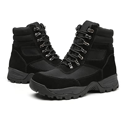 6849bf59889a DRKA Men s 6 quot  Waterproof Leather Steel Toe Work Boots Construction  Industrial Shoes for Additional Safety