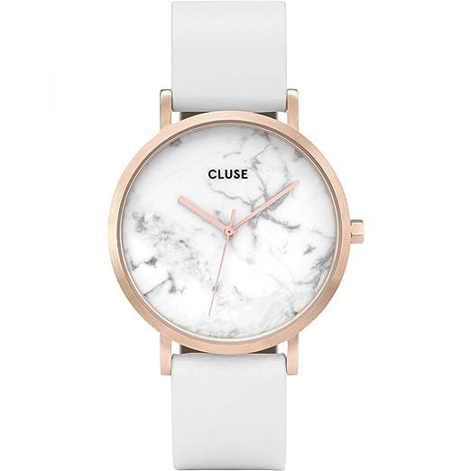 Cluse Reloj Analógico para Mujer de Cuarzo con Correa en Cuero CL40010: Amazon.es: Relojes