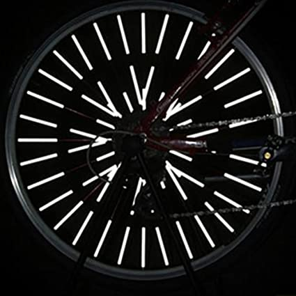 New 12Pcs Bike Bicycle Wheel Spoke Reflector Reflective Mount Clip Tube US STOCK