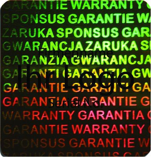 EtikettenWorld BV, EW-H-3100-67-ts-700, 700 Stück Hologrammaufkleber, 2D, 2D, 2D, 20x20mm grünfarbige Metallfolie, bedruckt in schwarz mit Ihrem Wunschtext Logo, Hologramm Etiketten, selbstklebend, Hologramm Aufkleber, Sicherheitssiegel, Garantiesiegel, 2756c8