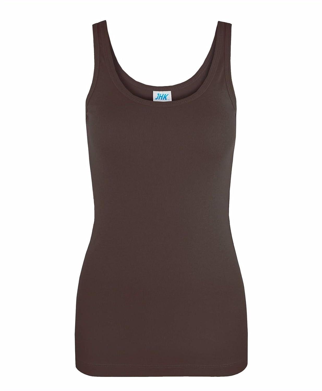 JHK Ladies Summer 100% Cotton Vest Slim Fit Plain T-Shirt Women' s Tank Tops