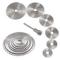 7 st HSS cirkulära träsågblad skivor, Fortspang HSS cirkelsågblad dorn roterande verktygssats passar Dremel-borrar…