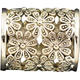 Turquoise Scarf Ring Gold Plated Jewelry Cubic Zirconia Diamond Clip Slides Clasp Filigree Women