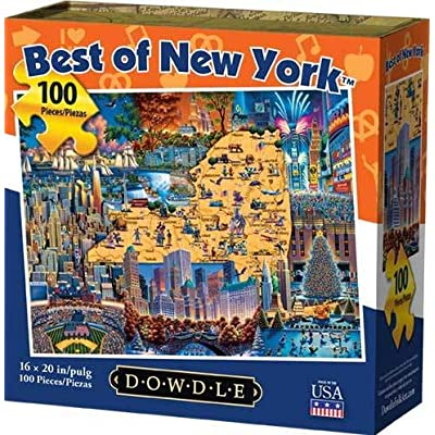 Dowdle Jigsaw Puzzle - Best of New York - 100 Piece: Toys & Games