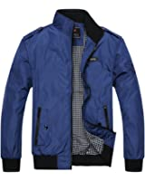 KIWEN Men's Autumn And Fall Casual Wear Long Sleeve Jacket