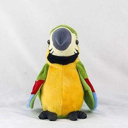 Alextry - Peluche eléctrico de 26 cm de simulación de Loro, Juguete de Macaw