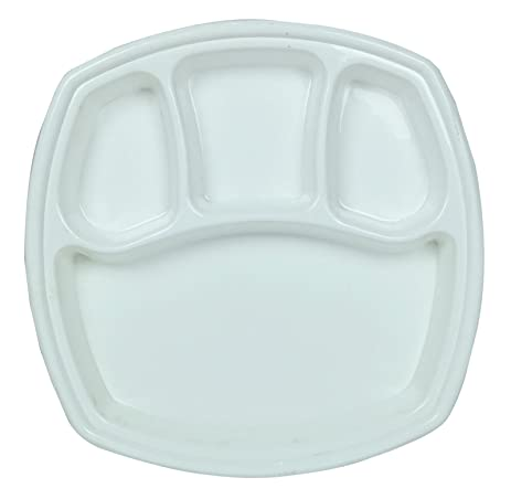 Saflona 4 Compartment PP Plastic Microwave Safe Dinner Plates Food Tray  sc 1 st  Amazon.com : microwave safe dinner plates - pezcame.com