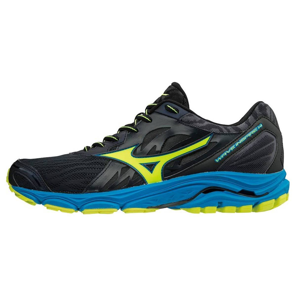 Mizuno Wave Inspire 14 Laufschuhe Running  45 EU|Ombre Blue/Safety Yellow/Diva Blue