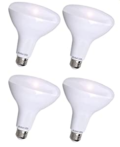 4 Pack BR30 LED Indoor Outdoor Flood Light Bulbs by Bioluz LED INSTANT-ON Warm White LED 2700K, 11 Watt Energy Saving Light Bulbs (95 Watt Replacement) Indoor Outdoor Dimmable Lamp UL Listed