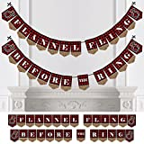 Flannel Fling Before The Ring - Buffalo Plaid Bachelorette Party Bunting Banner - Bachelorette Party Decorations