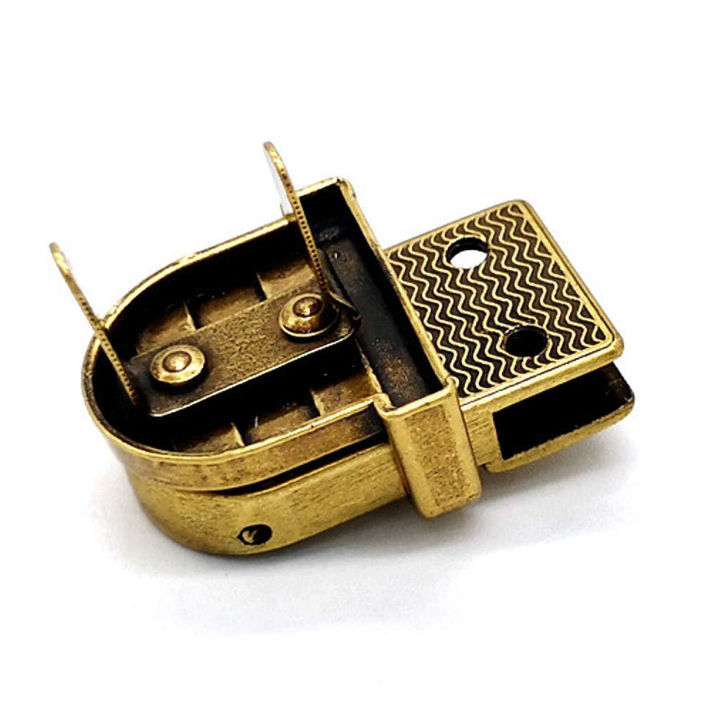 Bag Large Antique Brass Plate Tuck Lock Clasp Tuck Lock Clasp