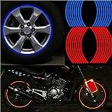 SKS Distribution® Lot de 16bandes rouge de roue autocollants et Stickers 35,6cm cm Ruban adhésif réfléchissant voiture jante moto voiture