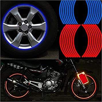 16 pegatinas reflectantes SKS Distribution® de 35,6 cm de color rojo para ruedas de bicicletas, motocicletas y coches: Amazon.es: Coche y moto